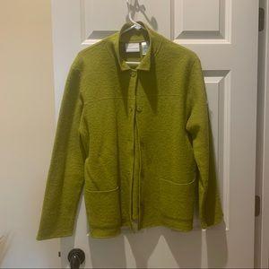 Alfred Dunner Wool Button Jacket Green Medium